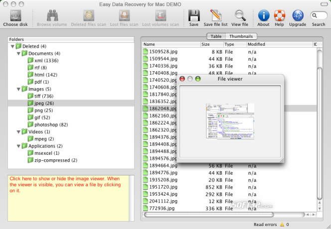 Easy Data Recovery for Mac Screenshot 2
