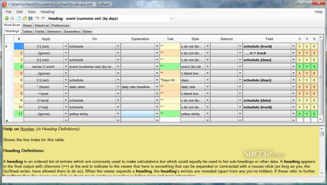 QuSheet Screenshot 2