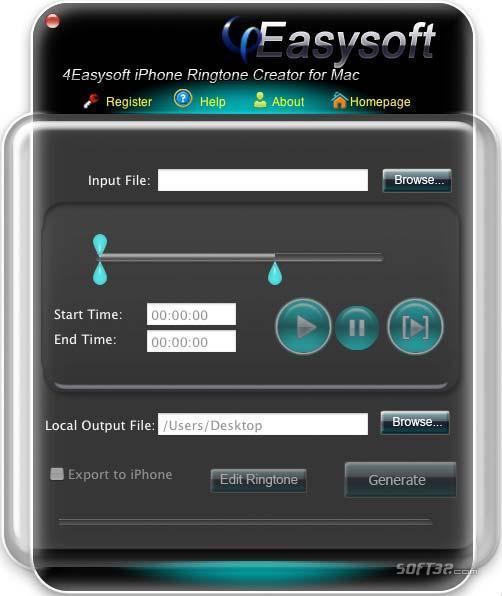 4Easysoft Mac iPhone Ringtone Creator Screenshot 2