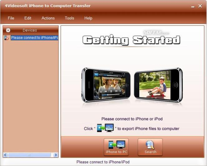 4Videosoft iPhone to Computer Transfer Screenshot 2