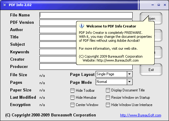 PDF Info Screenshot