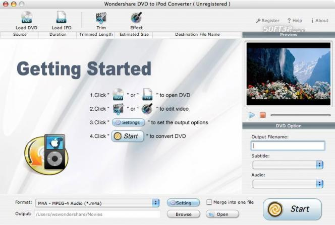 Wondershare DVD to iPod Converter for Mac Screenshot 2
