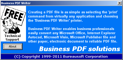 Business PDF Writer Screenshot