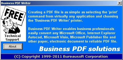 Business PDF Writer Screenshot 1