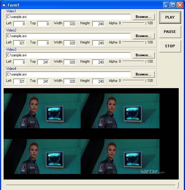 X360 Multiple Video Player ActiveX OCX Screenshot 2