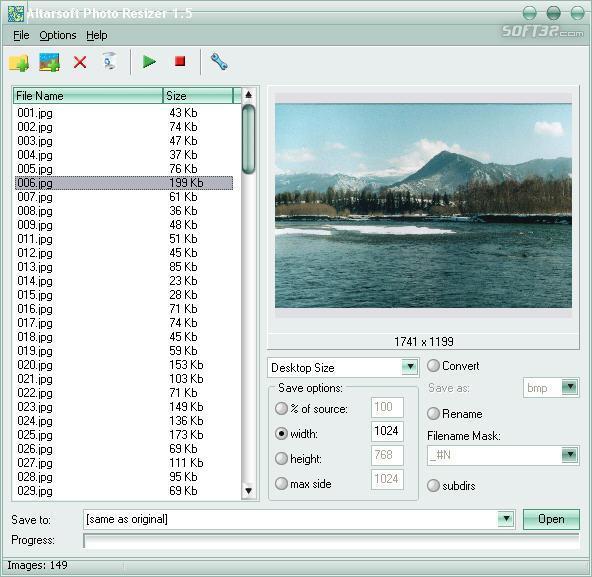 Altarsoft Photo Resizer Screenshot 2