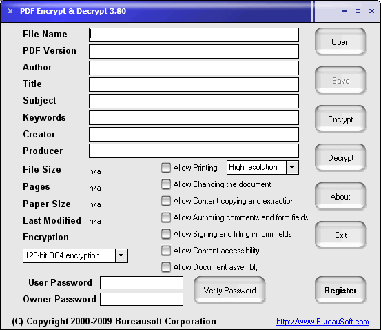 PDF Encrypt & Decrypt Screenshot 1