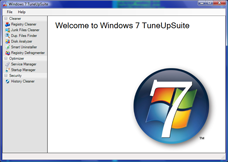 Windows 7 TuneUpSuite Screenshot