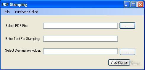 PDF Stamping Tool Screenshot 2