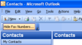 Hide Fax Numbers in Outlook 1