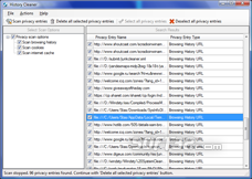 Browser History Cleaner Screenshot 2
