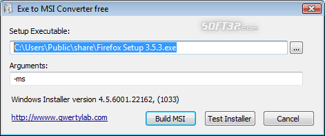 Exe to Msi Converter free Screenshot 2