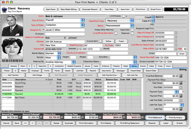 Recovery Report-Debt Recovery Management Software Screenshot 1