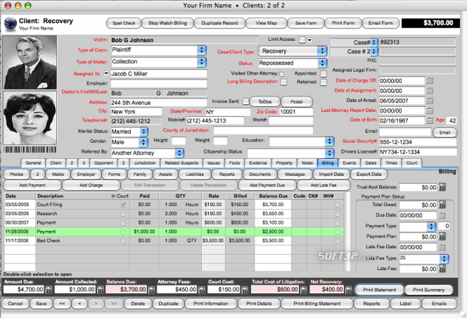 Recovery Report-Debt Recovery Management Software Screenshot 2