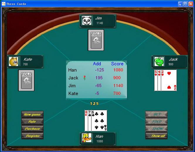 ThreeCards Screenshot 1