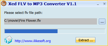 Xed FLV to MP3 Converter Screenshot 1