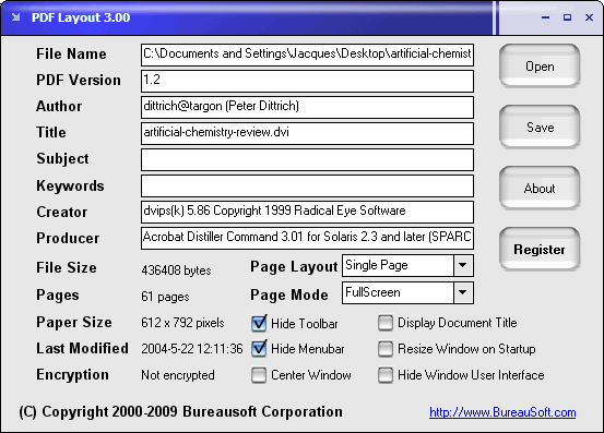 PDF Layout Screenshot