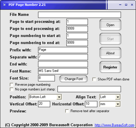 PDF Page Number Screenshot