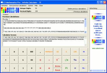 C2-Mathematics-Pro-InfiniteCalculator-1S Screenshot