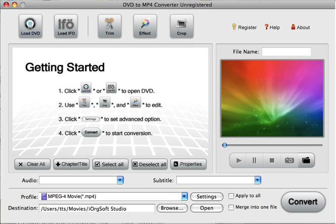 DVD to MP4 Converter for Mac Screenshot