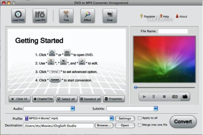 DVD to MP4 Converter for Mac Screenshot 2