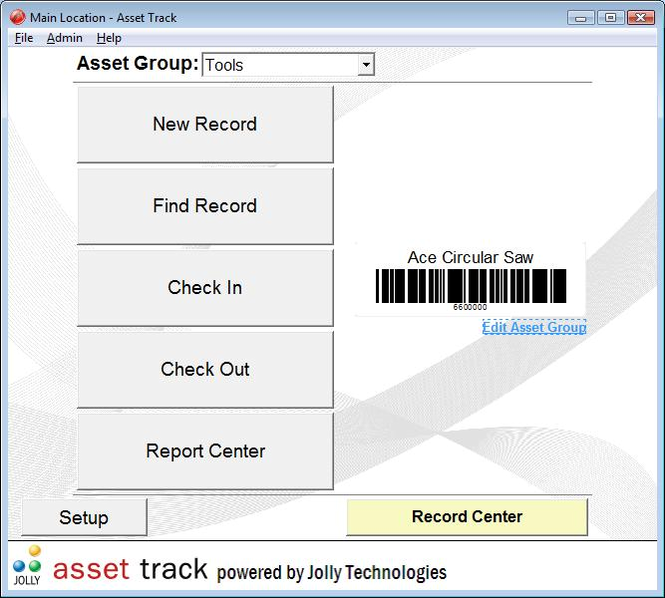 Asset Track Asset Management Software Screenshot