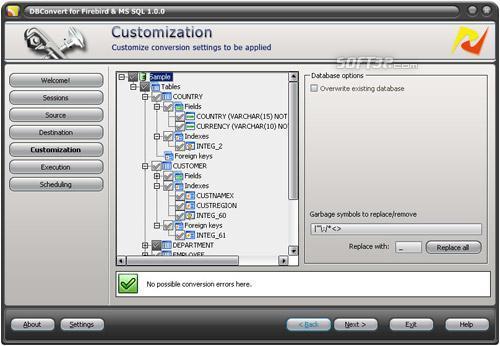 DBConvert for Firebird and MS SQL Screenshot 2