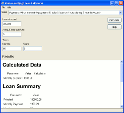 Abacre Mortgage Loan Calculator Screenshot