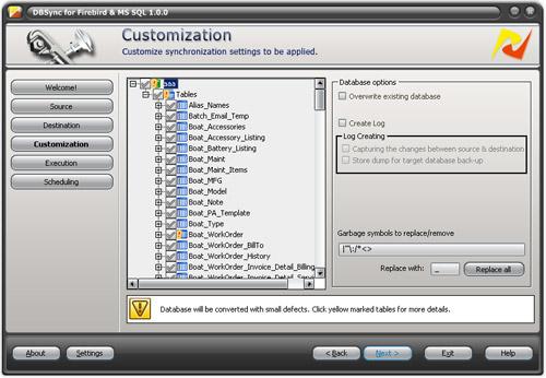 DBSync for Firebird and MS SQL Screenshot 1