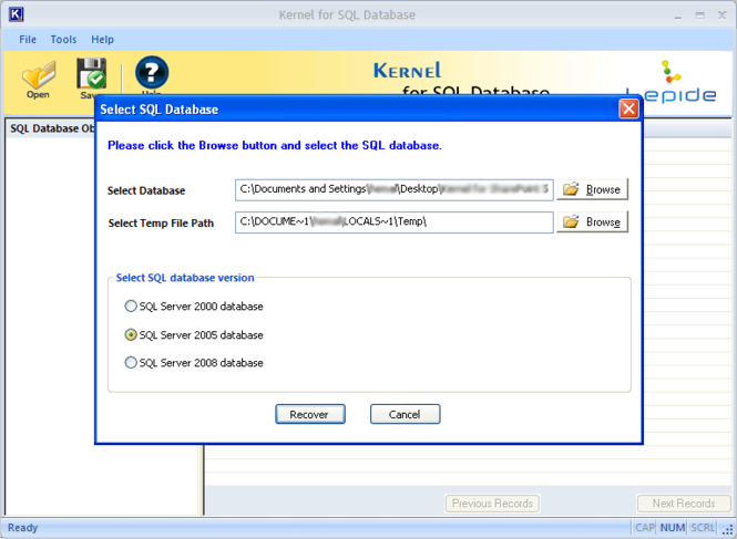 SQL Server Repair Screenshot 1