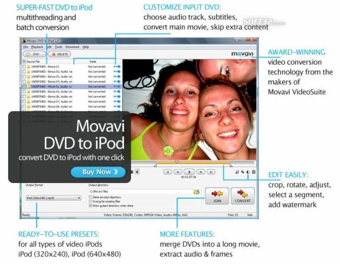 Movavi DVD to iPod Screenshot 2