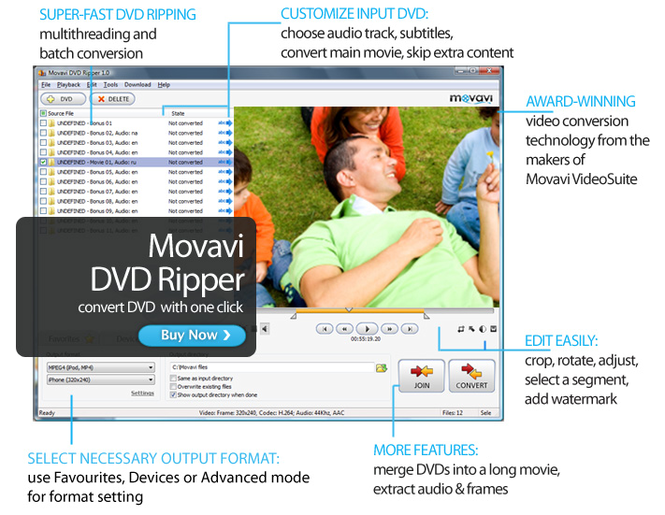 Movavi DVD Ripper Screenshot