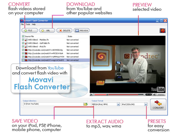 Movavi Flash Converter Screenshot