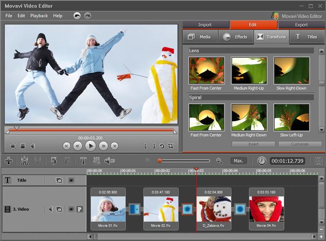 Movavi Video Editor Screenshot 2