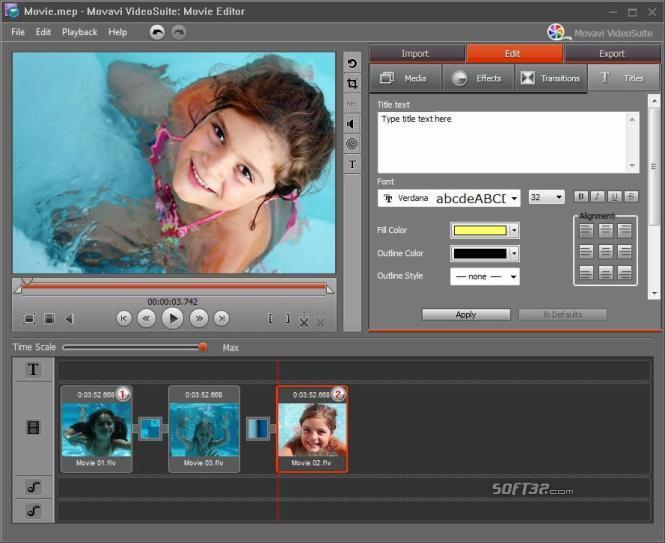 Movavi Video Editor Screenshot 3