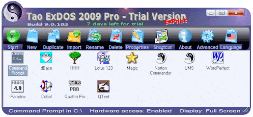 Tao ExDOS 2009 Screenshot 1