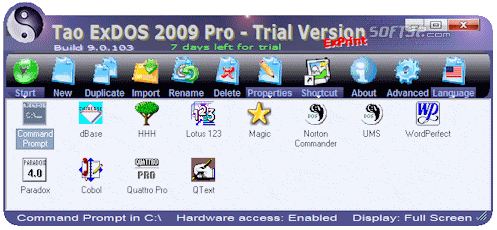 Tao ExDOS 2009 Screenshot 3