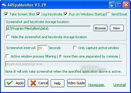 AllSpyMonitor Keylogger Screenshot 2