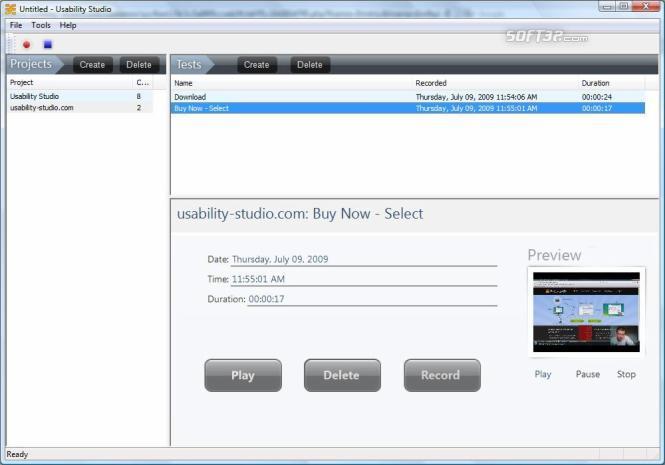Usability Studio Screenshot 3