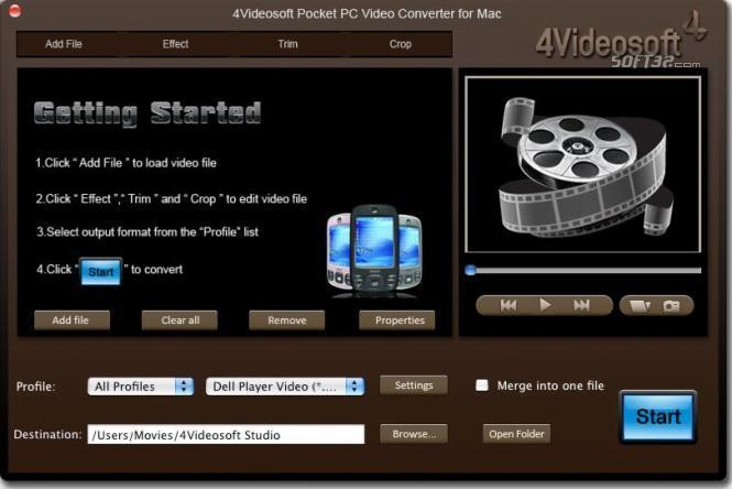 4Videosoft Mac Pocket PC Video Converter Screenshot 3