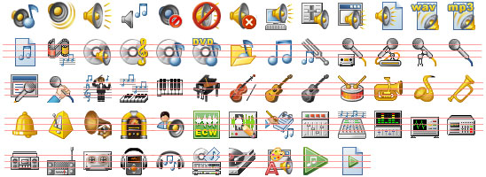 32x32 Music Icons Screenshot 1