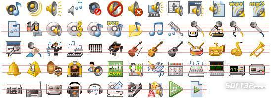32x32 Music Icons Screenshot 2