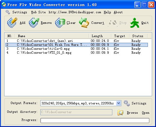 Free FLV Video Converter Screenshot