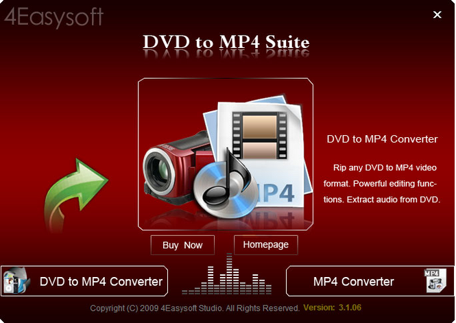 4Easysoft DVD to MP4 Suite Screenshot 1