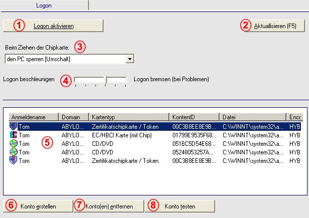 abylon LOGON Screenshot 1