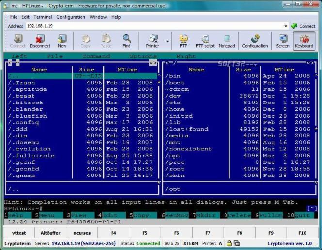 CryptoTerm Screenshot 2