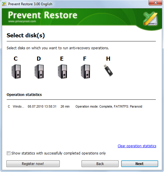 Prevent Restore Screenshot