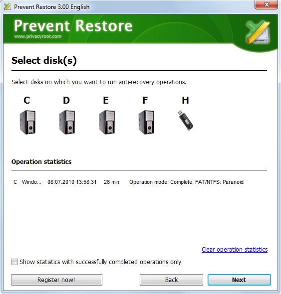 Prevent Restore Screenshot 1