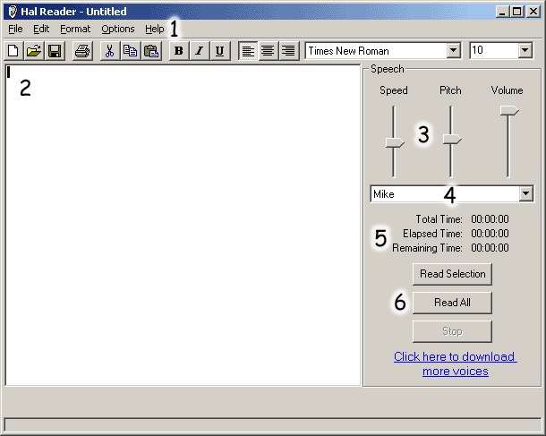 Ultra Hal Text-to-Speech Reader Screenshot