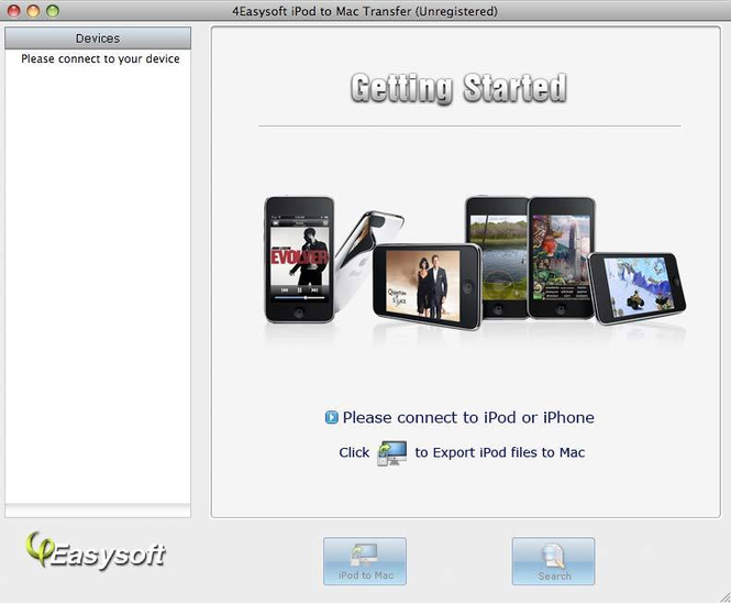 4Easysoft iPod to Mac Transfer Screenshot 1